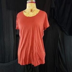 Burberry red mens t-shirt.